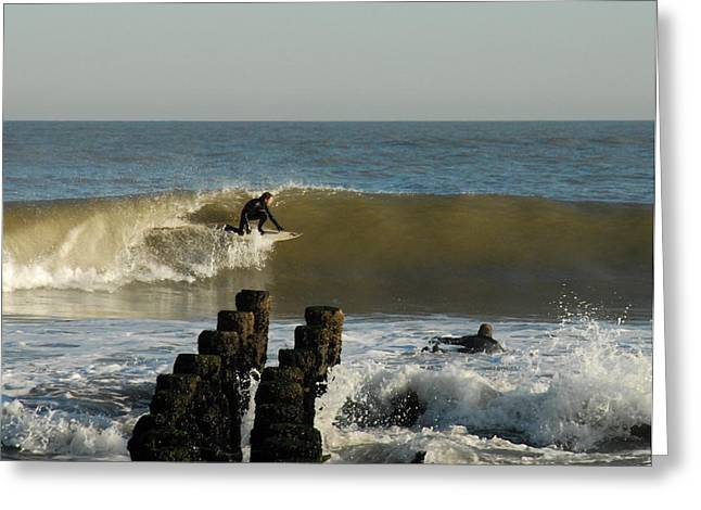 Take Over Greeting Cards - Surfing 81 Greeting Card by Joyce StJames