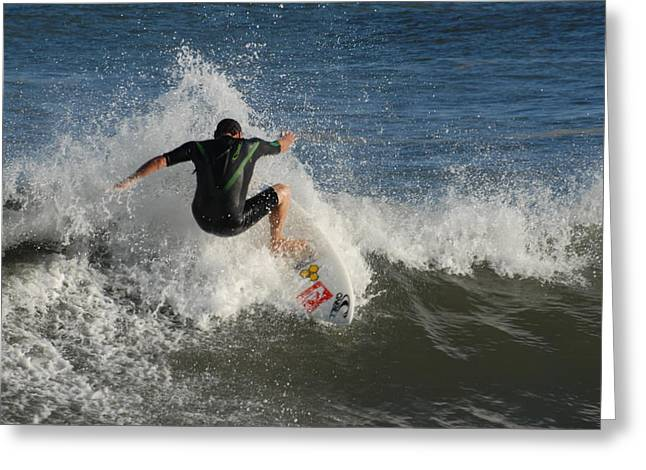 Take Over Greeting Cards - Surfing 87 Greeting Card by Joyce StJames
