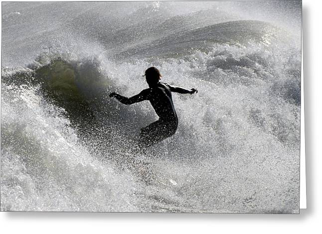 Take Over Greeting Cards - Surfing 89 Greeting Card by Joyce StJames