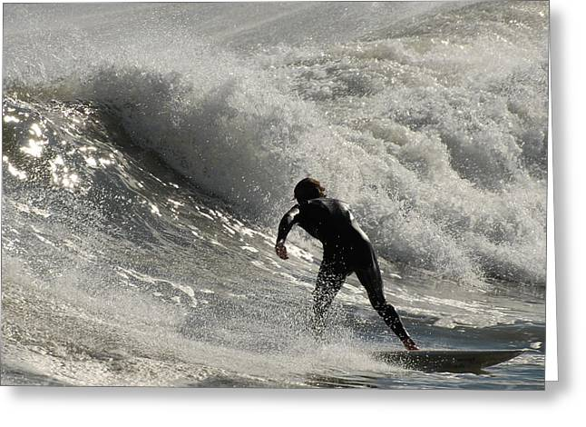 Take Over Greeting Cards - Surfing 90 Greeting Card by Joyce StJames