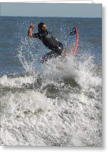 Take Over Greeting Cards - Surfing 92 Greeting Card by Joyce StJames