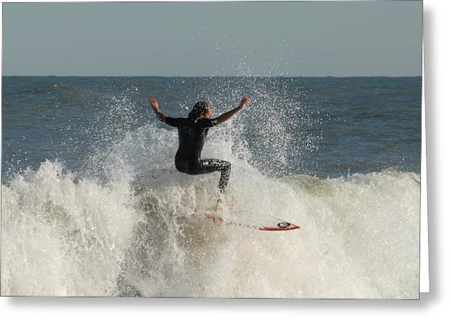 Take Over Greeting Cards - Surfing 95 Greeting Card by Joyce StJames