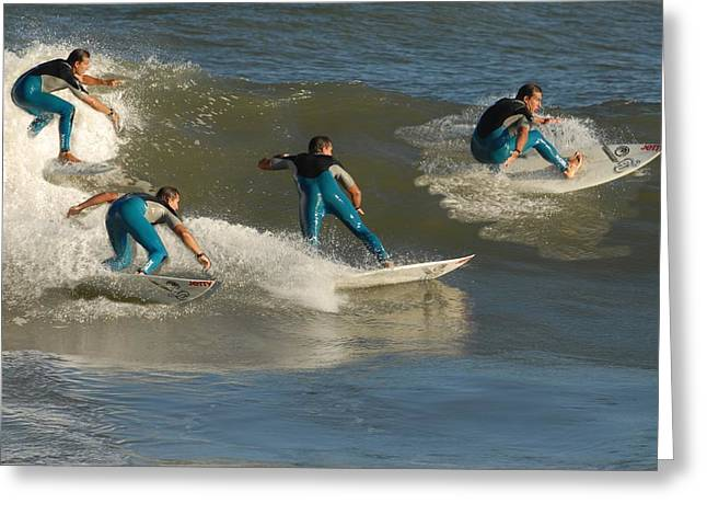 Take Over Greeting Cards - Surfing 97 Greeting Card by Joyce StJames