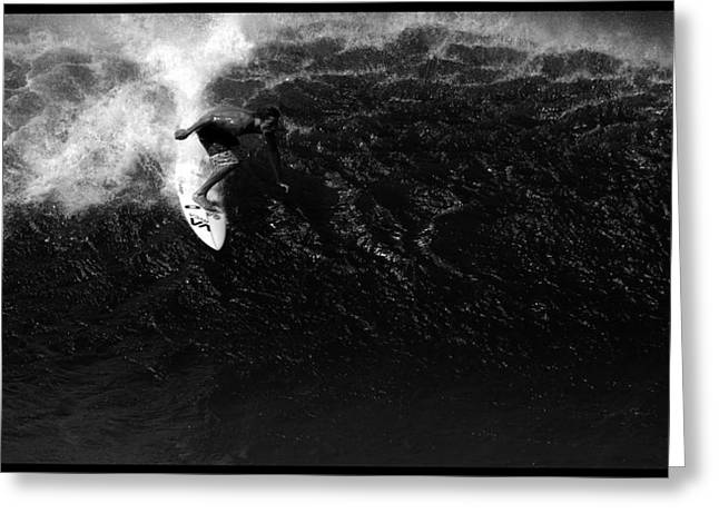 Surfing Art Greeting Cards - Surfing Bonsai Pipeline Greeting Card by Brad Scott