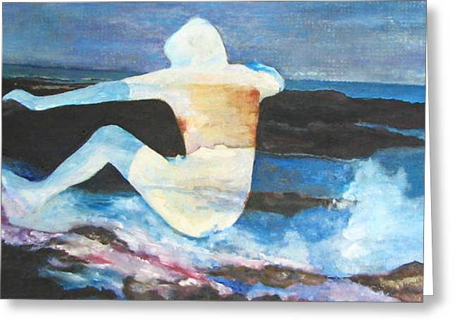 Abstract Beach Landscape Greeting Cards - Surfing Hawaii Greeting Card by Janet Rooney