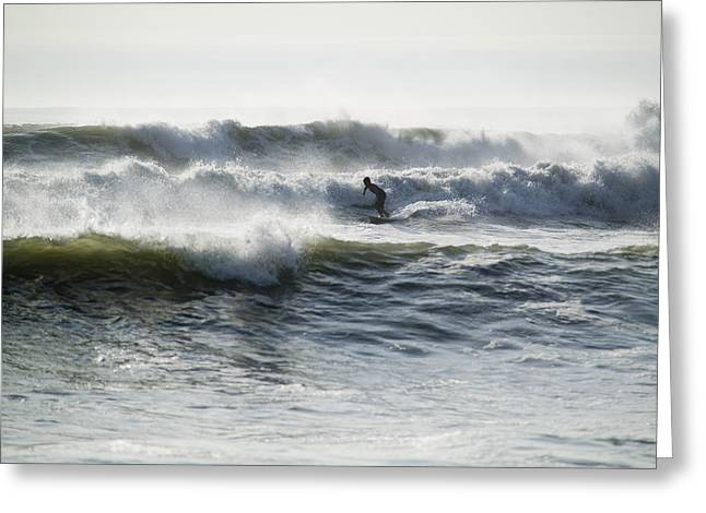 Exciting Surf Greeting Cards - Surfing In The Pacific, At Huanchaco Greeting Card by Nigel Hicks