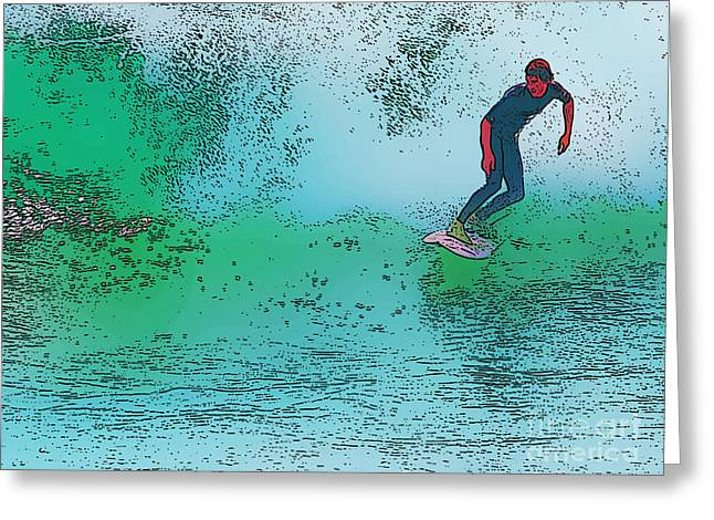 Para Surfing Greeting Cards - Surfing Greeting Card by Star Ship