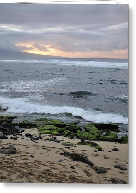Muted Photographs Greeting Cards - Surfing Sunset Greeting Card by Andy Smy