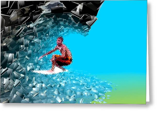Web Surfing Greeting Cards - Surfing The Internet Greeting Card by Christian Darkin