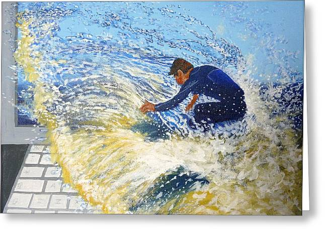 Web Surfing Greeting Cards - Surfing the net Greeting Card by Bill Ogg