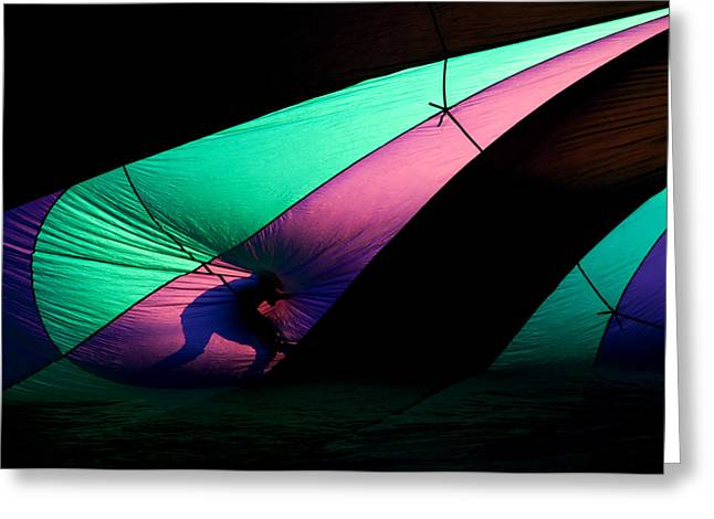 Hot Air Balloon Photographs Greeting Cards - Surfing the Silk Greeting Card by Mike  Dawson