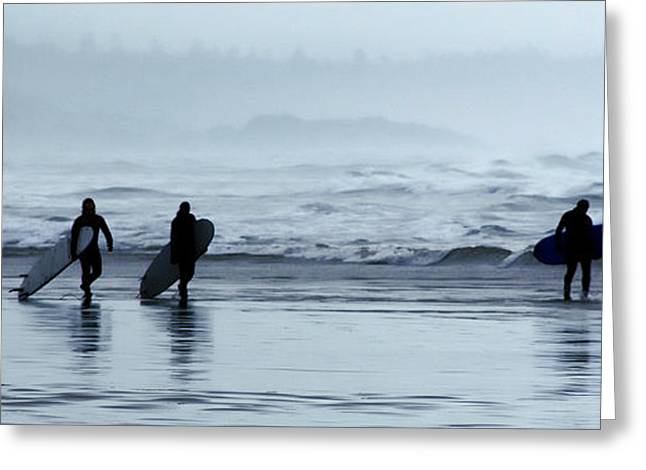 Surfing Photos Greeting Cards - Surfing Tofino Greeting Card by Vivian Christopher