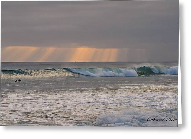 California Beach Greeting Cards - Surfs Up Greeting Card by Bridgette Gomes