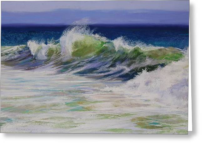 New England. Pastels Greeting Cards - Surfs Up Greeting Card by Jeanne Rosier Smith
