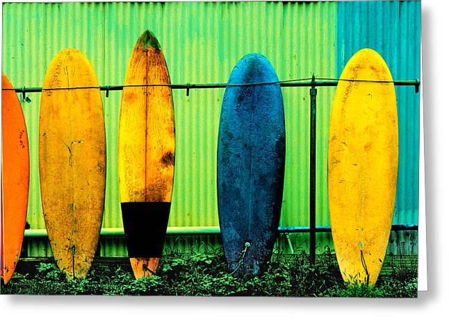 Shed Photographs Greeting Cards - Surfs up Greeting Card by John Wong