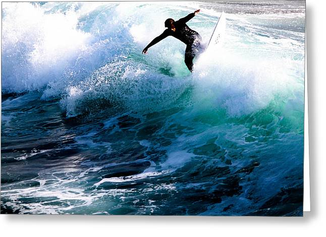 William And Magdalena Green Greeting Cards - Surfs Up Greeting Card by Magdalena Green