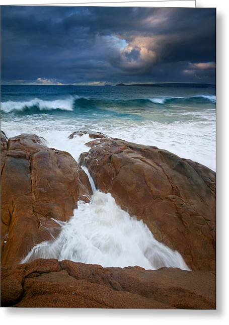Fleurieu Peninsula Greeting Cards - Surfs Up Greeting Card by Mike  Dawson