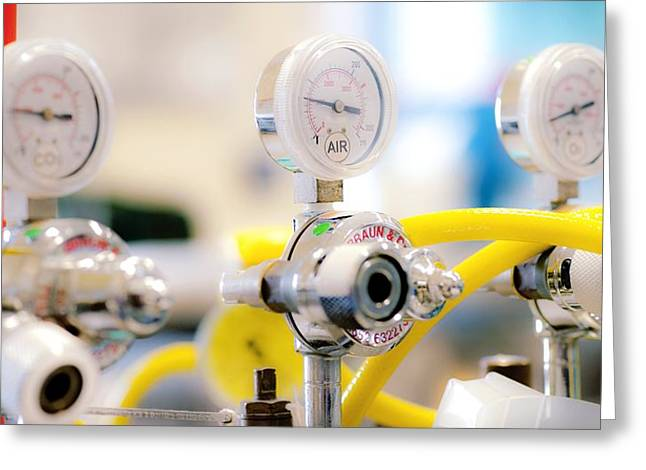 Carbon Dioxide Greeting Cards - Surgical Equipment Greeting Card by Lth Nhs Trust