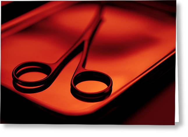 Scissors Greeting Cards - Surgical Scissors Greeting Card by Tek Image