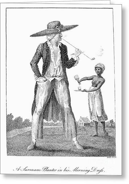 Proprietor Greeting Cards - Surinam: Slave Owner, 1796 Greeting Card by Granger