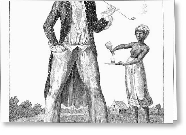 SURINAM: SLAVE OWNER, 1796 Greeting Card by Granger