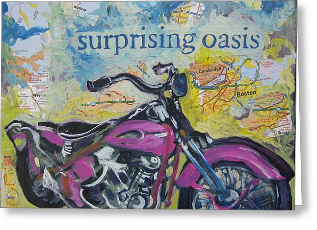 Surprising Oasis Greeting Card by Tilly Strauss