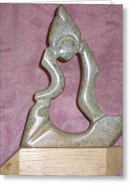 Stones Sculptures Greeting Cards - Surreal Grace Greeting Card by James Bryron Love