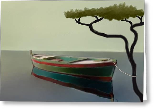 Larry Cirigliano Greeting Cards - Surreal Sea Greeting Card by Larry Cirigliano