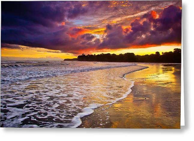 Surreal Landscape Greeting Cards - Surreal Sunset Greeting Card by Iris Greenwell