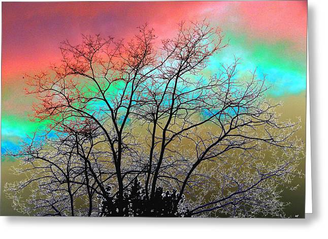 Surreal Winter Sky Greeting Card by Will Borden
