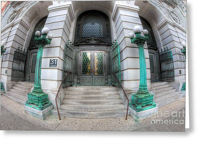 Surrogate's Courthouse I Greeting Card by Clarence Holmes