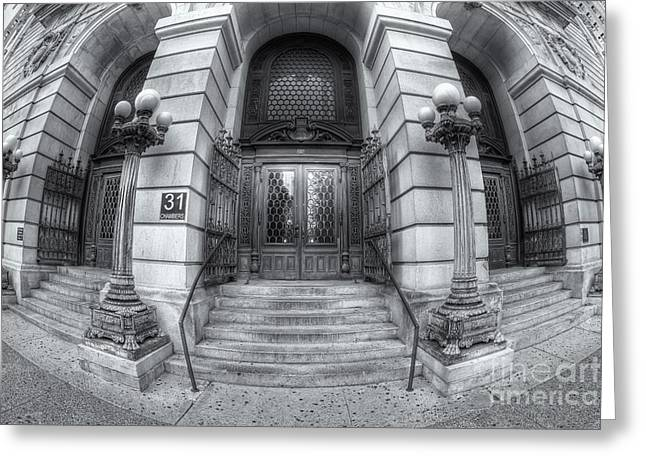 Surrogate's Courthouse II Greeting Card by Clarence Holmes