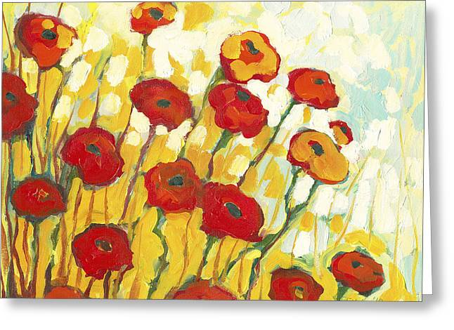 Colorful Greeting Cards - Surrounded in Gold Greeting Card by Jennifer Lommers