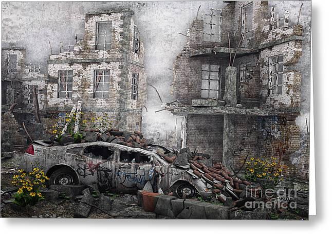 Broken-in Greeting Cards - Survivors between Ruins Greeting Card by Jutta Maria Pusl