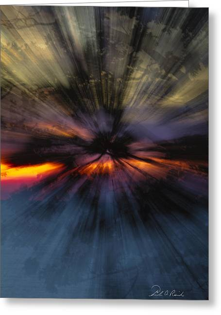 Hallucination Greeting Cards - Suset Hallucination Greeting Card by Frederic A Reinecke