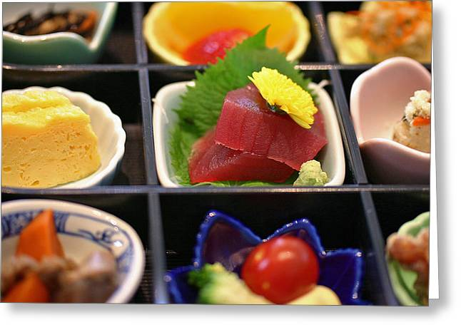 Lunch Box Greeting Cards - Sushi Art Greeting Card by David Rucker