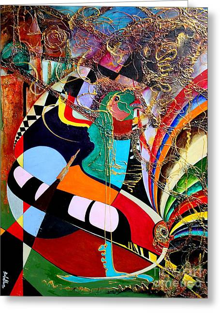 Good Woman Mixed Media Greeting Cards - Suspended Memories Greeting Card by Farzali Babekhan