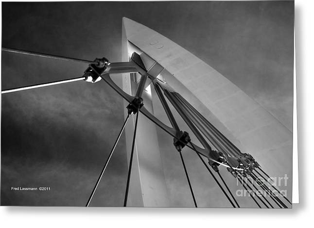 Keeper Of The Plains Greeting Cards - Suspension Greeting Card by Fred Lassmann