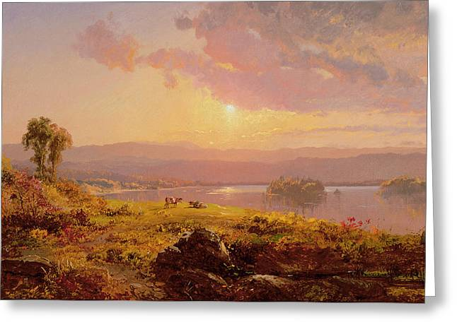 1876 Greeting Cards - Susquehanna River Greeting Card by Jasper Francis Cropsey