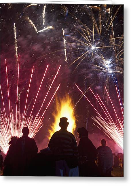 Bonfire Night Greeting Cards - Sussex, England Greeting Card by Axiom Photographic