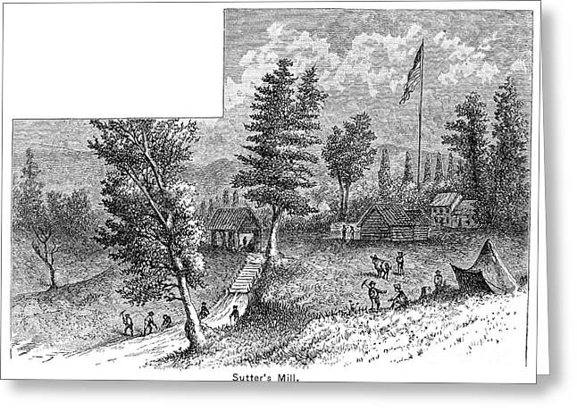 Destiny Greeting Cards - Sutters Mill, 1848 Greeting Card by Granger