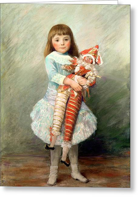 Renoir Greeting Cards - Suzanne Greeting Card by Pierre Auguste Renoir