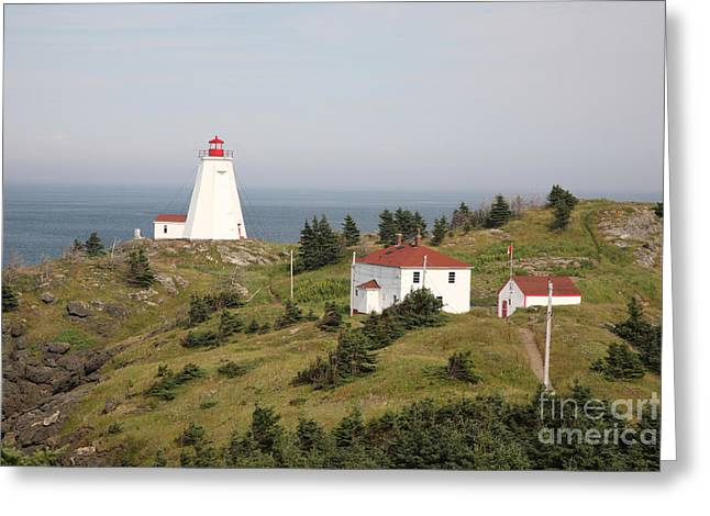Aid To Navigation Greeting Cards - Swallowtail Lighthouse Greeting Card by Ted Kinsman