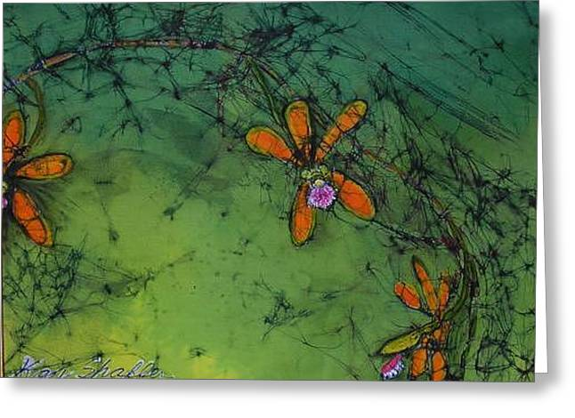 Southwest Tapestries - Textiles Greeting Cards - Swamp orchid Greeting Card by Kay Shaffer