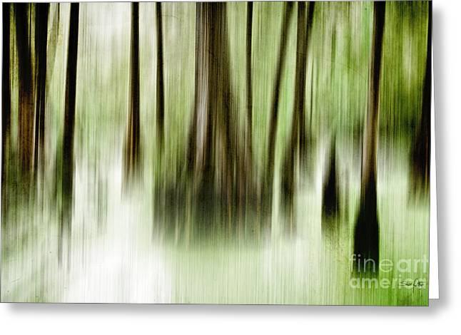 Cypress Tree Digital Art Greeting Cards - Swamp Greeting Card by Scott Pellegrin