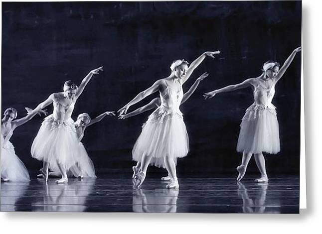 Ballet Dancers Photographs Greeting Cards - Swan Lake Greeting Card by Kenneth Mucke