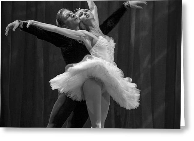 Swan Lake  White Adagio  Russia 2 Greeting Card by Clare Bambers