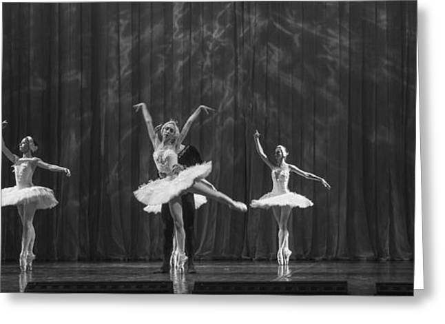 Ballet Dancers Greeting Cards - Swan Lake  White Adagio  Russia 4 Greeting Card by Clare Bambers