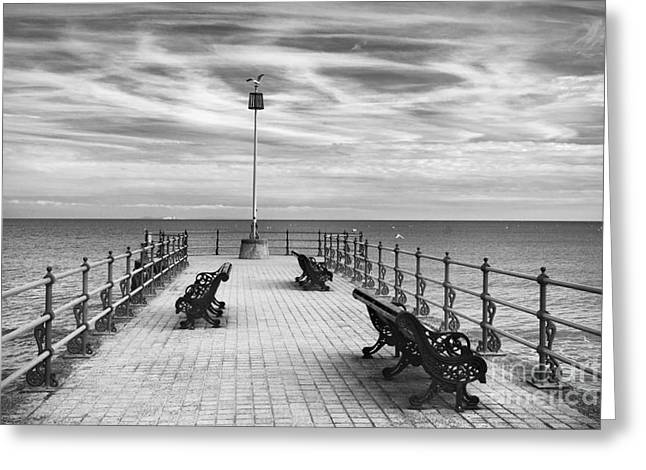 Seafront Greeting Cards - Swanage Pier Greeting Card by Richard Garvey-Williams