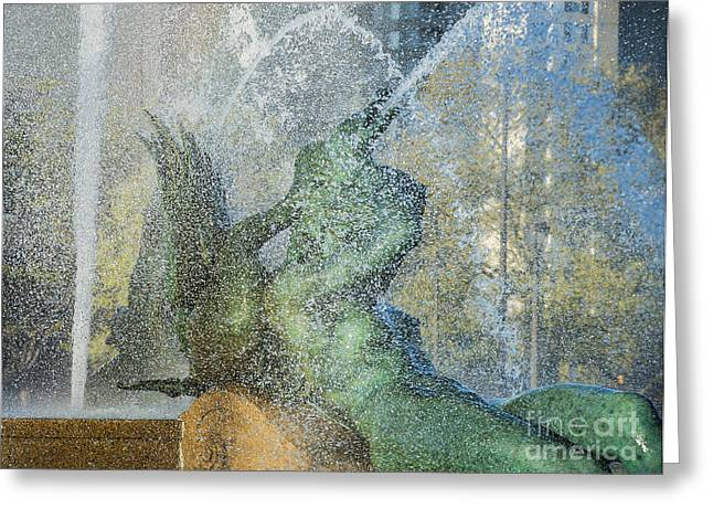Phillies Art Greeting Cards - Swann Fountain Greeting Card by John Greim
